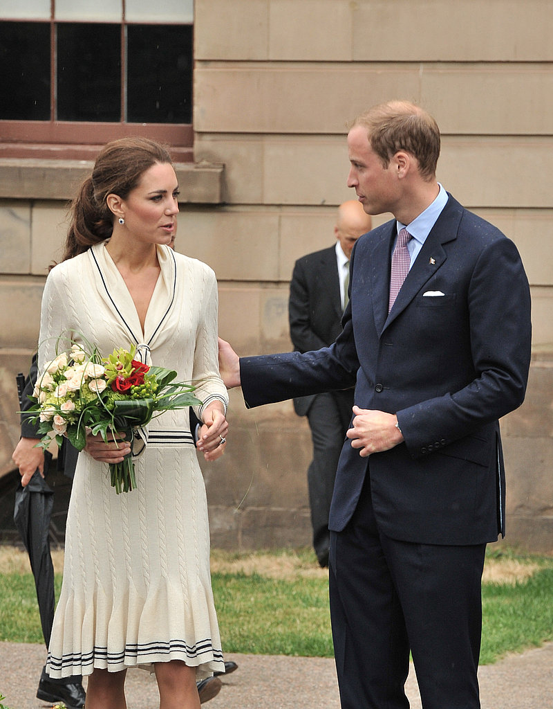 Kate Middleton held a bouquet of flowers during her visit to Province House with Prince William.