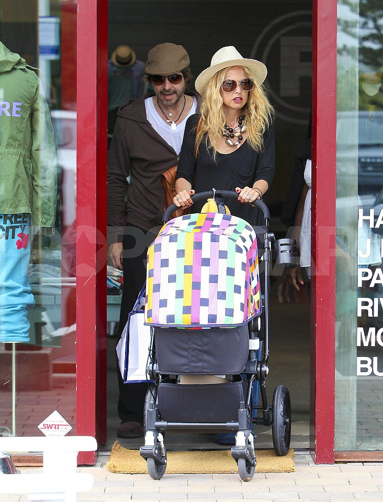 Rachel Zoe and Rodger Berman pushed baby Skyler i