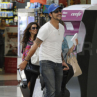 Pictures of Eva Longoria and Eduardo Cruz Leaving Spain