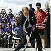 Prince William Playing Street Hockey With Kate Middleton 2011-07-05 15:15:15