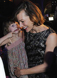 Ever Anderson joked around with mom Milla Jovovich at the Jean Paul Gaultier show.