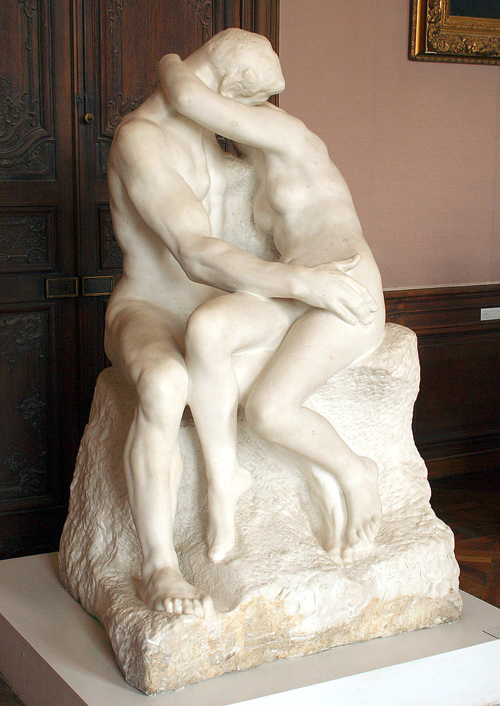 "Originally titled ""Francesca da Rimini,"" ""The Kiss"" is an 1889 marble sculpture by Auguste Rodin depicting a story from Dante's Inferno about real-life Italian noblewoman Francesca, who fell in love with her husband's younger brother."