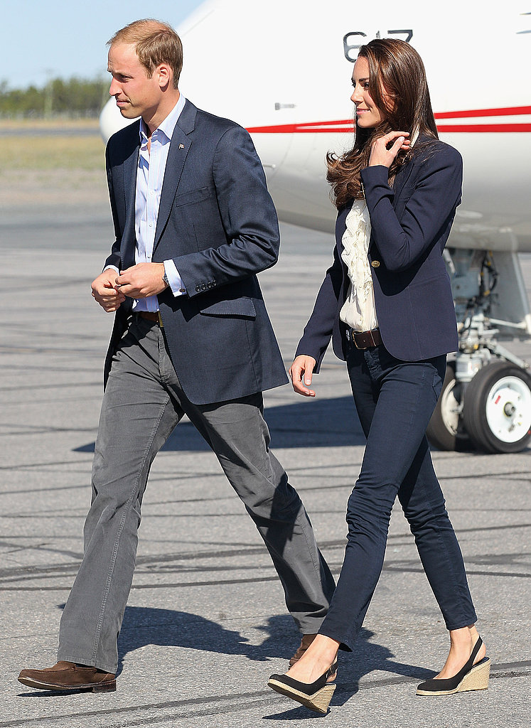 Prince William and Kate Middleton head out to another appearance in Canada wearing matching blue blazers on Wednesday.