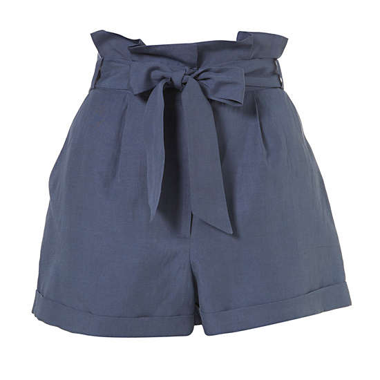 Topshop Cornflower Paperbag Waist Shorts, $70   Pair with: