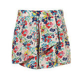 Topshop Multi Pansy Waterfall Shorts, $70   Pair with: