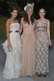 Margherita Missoni, Tatiana Santo Domingo in Valentino couture, Eugenie Niarchos in Valentino couture