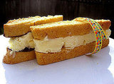 Citrus-biscotti ice cream sandwiches