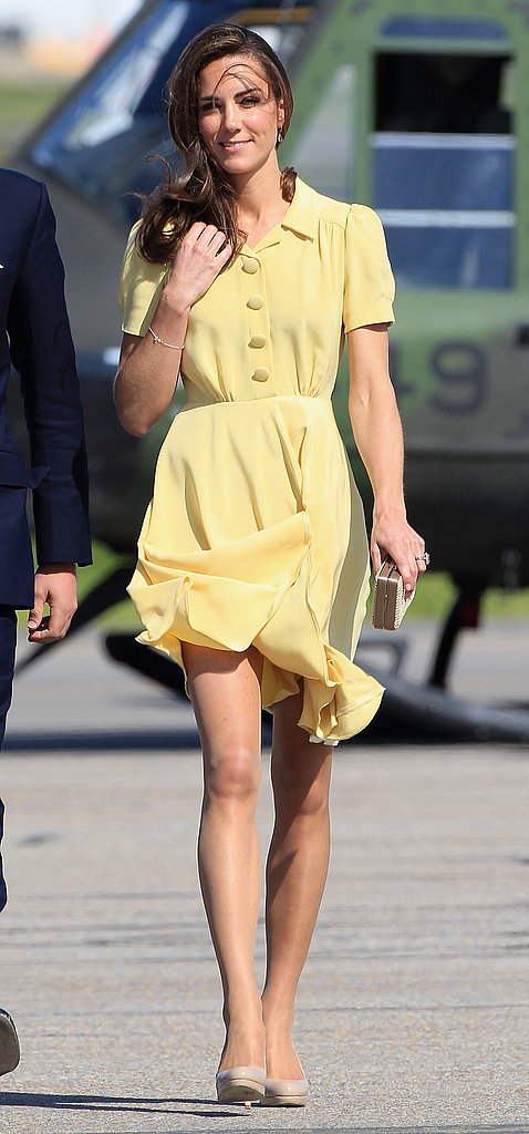 Kate Middleton looked classic in chic in her Jenny Packham ensemble.
