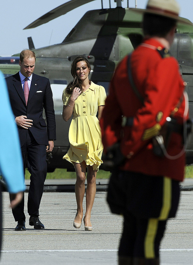 Prince William and Kate Middleton touched down in Calgary, Canada.