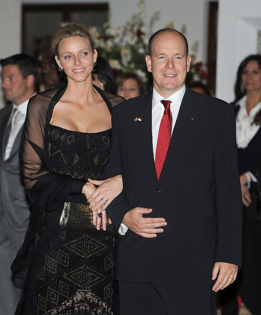 Prince Albert and Prince Charlene were inseparable at their dinner party.