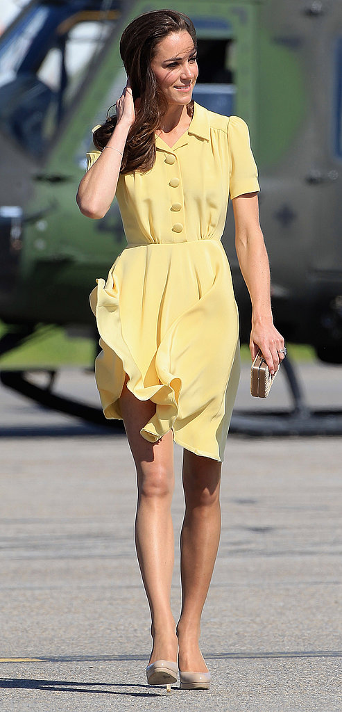 Kate Middleton chose a pastel dress for her day in Calgary.