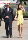 The Duke and Duchess stepped off of their private aircraft together.