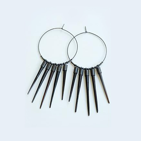 Kristen Elspeth African Sunburst Earrings, $173