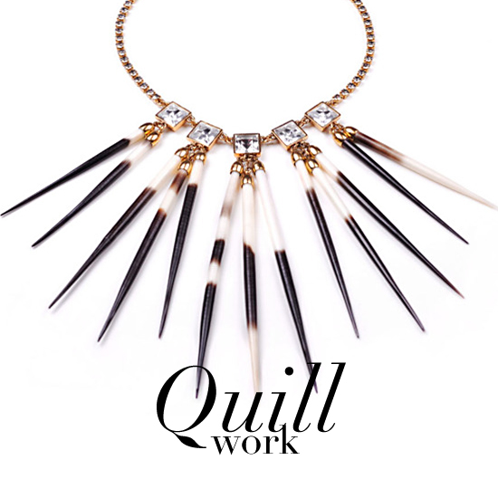 Dangerously Chic — Porcupine Quills Are Everywhere