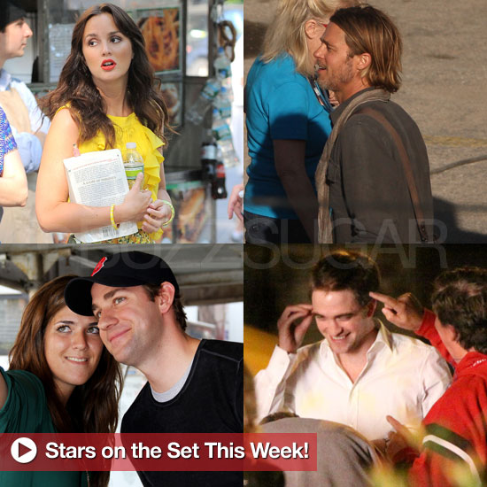 Brad Pitt, Robert Pattinson, John Krasinski, and More Stars on Set This Week!