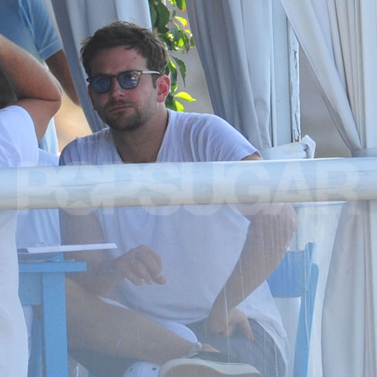 Bradley Cooper in Capri for Ryan Kavanaugh's wedding.