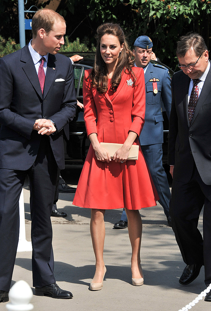 Kate Middleton and Prince William got ready to board a plane to LA.