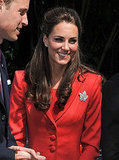 Kate Middleton smiled at fans.