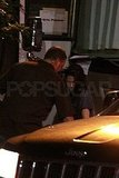 Kristen visited Robert on the set of Cosmopolis.