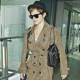 Emma Watson flew out of the UK.