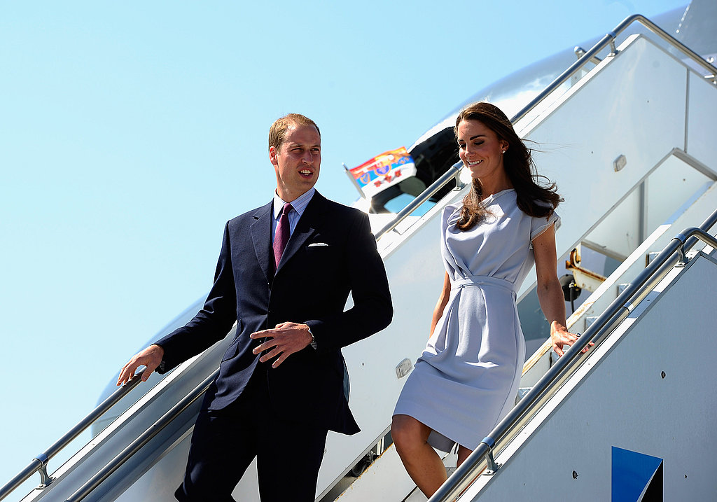 The Duke and Duchess of Cambridge touch down in California.