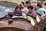 A young Prince William enjoys a Splash Mountain ride on a previous visit to America in 1993.