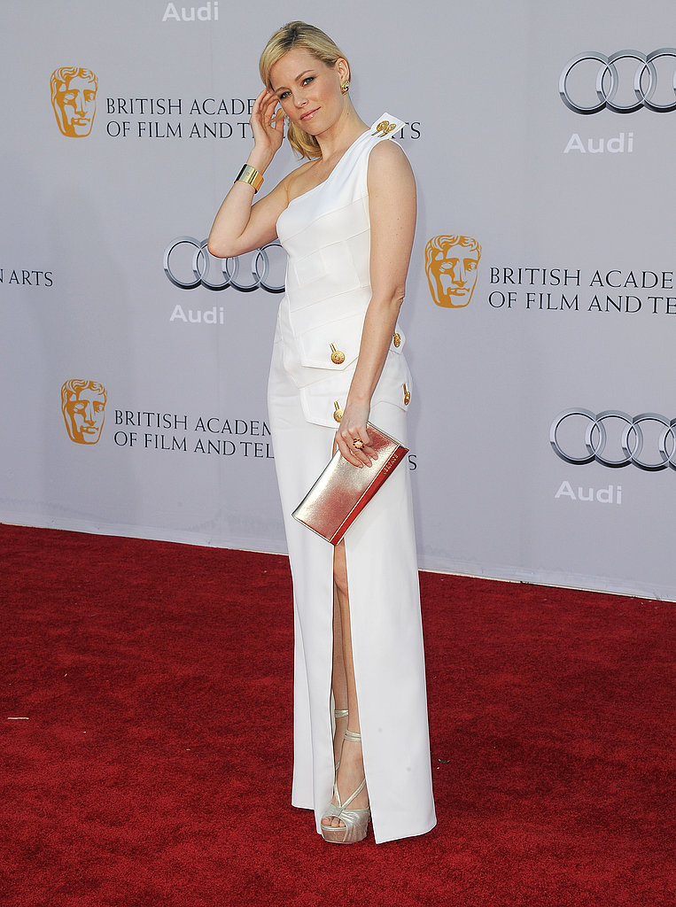 Elizabeth Banks in white at the BAFTA Brits to Watch event in LA.
