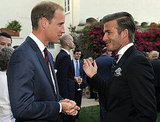 Prince William with David Beckham in LA.