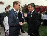 Prince William with David Beckham in LA.