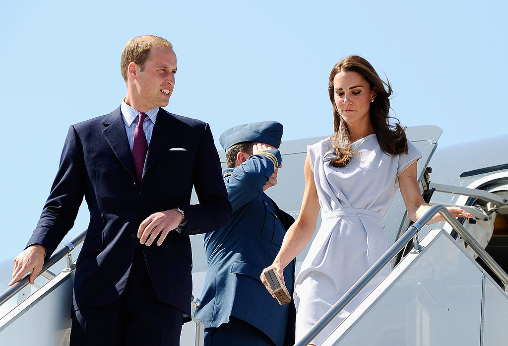 Prince William and Kate Middleton arrive at LAX.