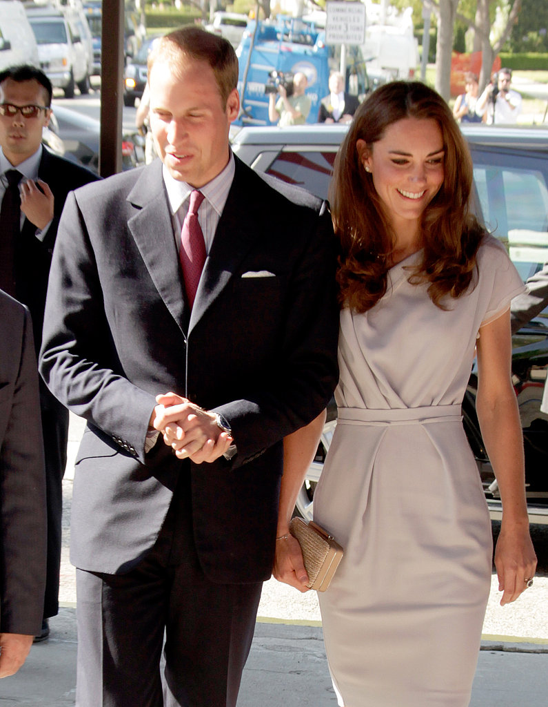 Prince William and Kate Middleton are ready for business on their way to a summit on new media.