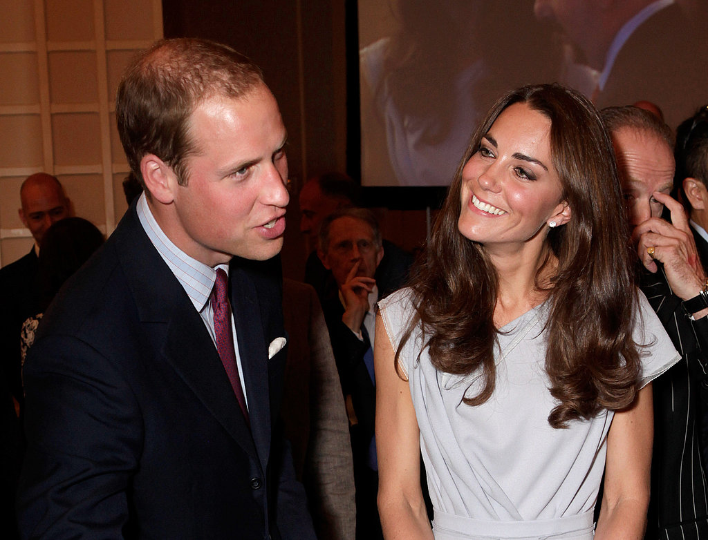 Kate Middleton only has eyes for her prince at the meeting of UK and US business leaders.