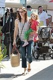 Jennifer Garner and Seraphina in LA.