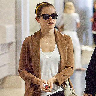 Emma Watson Arriving at LAX