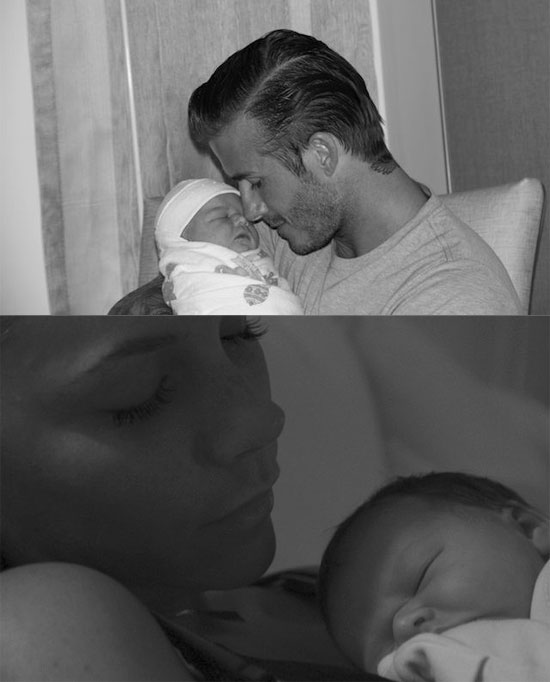 Victoria and David Beckham Debut Baby Harper in Intimate Photos!