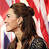 Hairstyle Inspiration: Get Kate Middleton&#039;s Dressy, Half-Up Bun Hairstyle