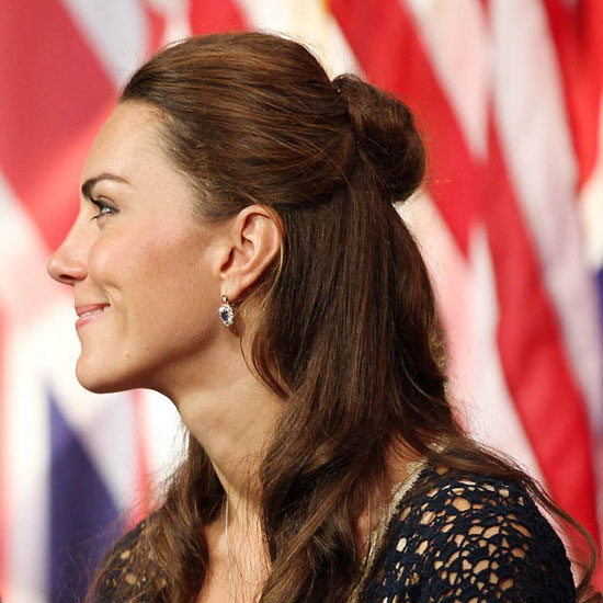 Kate Middleton&#039;s Half-Up, American Visit Hairstyle