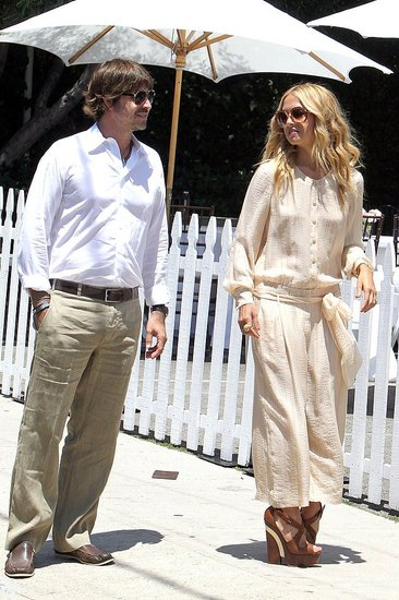 Rodger Berman and Rachel Zoe were all smiles in sunny Beverly Hills.