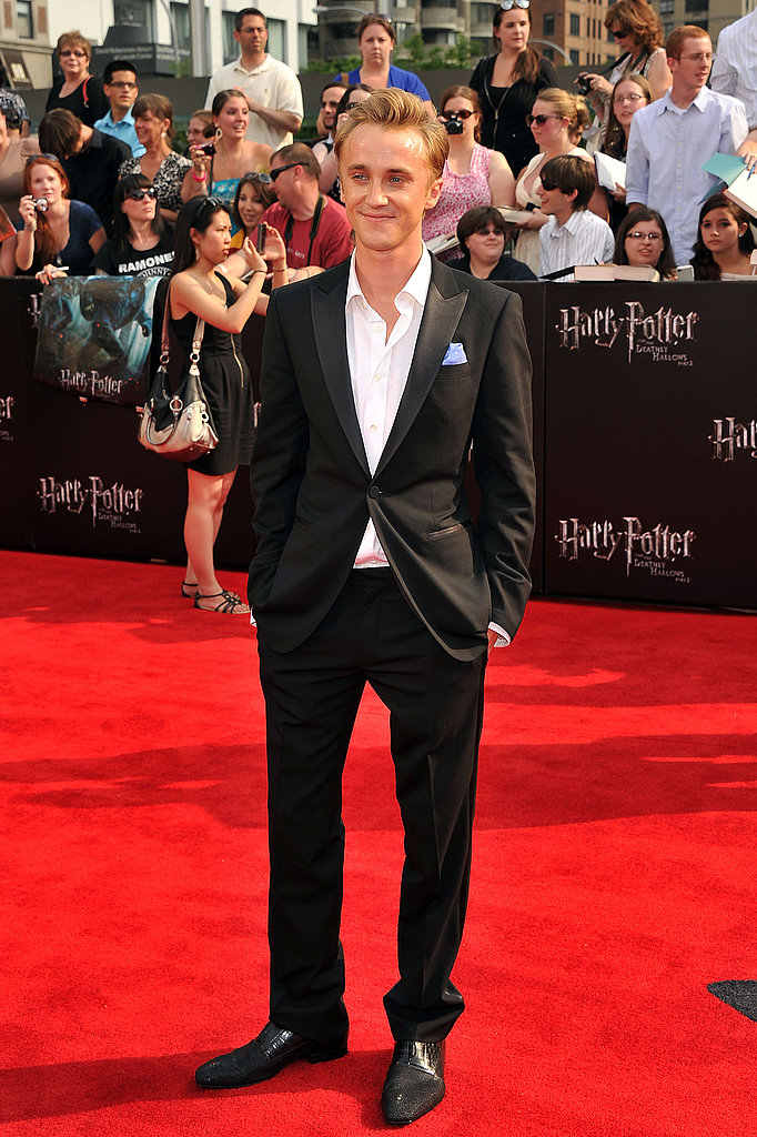 Tom Felton at the Harry Potter and the Deathly Hallows Part 2 premiere in NYC.