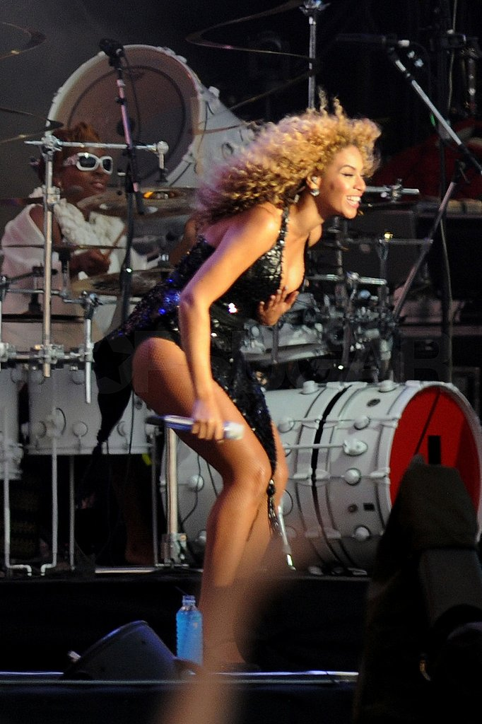 Beyoncé Knowles dancing on stage.