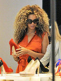 Beyoncé shopping in London.