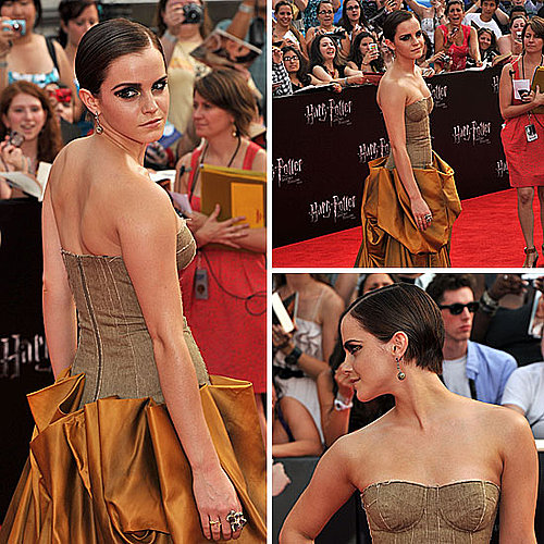 Emma Watson on Harry Potter and the Deathly Hallows Part 2 Red Carpet