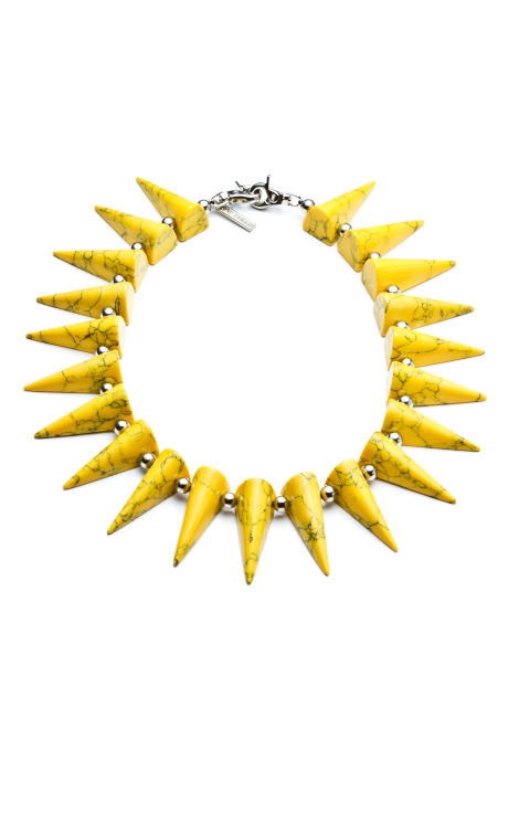 Gemstone Spike Collar, $750