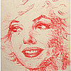 Marilyn Monroe Portrait Made From Kisses
