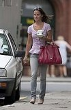 Pippa Middleton walks around London.