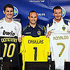 Pictures of David Beckham, Cristiano Ronaldo, Landon Donovan, and Iker Casillas