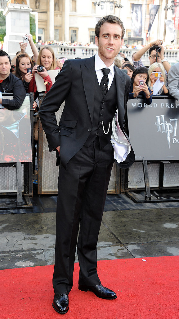 Gotta love Matt Lewis in his three-piece suit at the Harry Potter and the Deathly Hallows Part 2 world premiere in London.