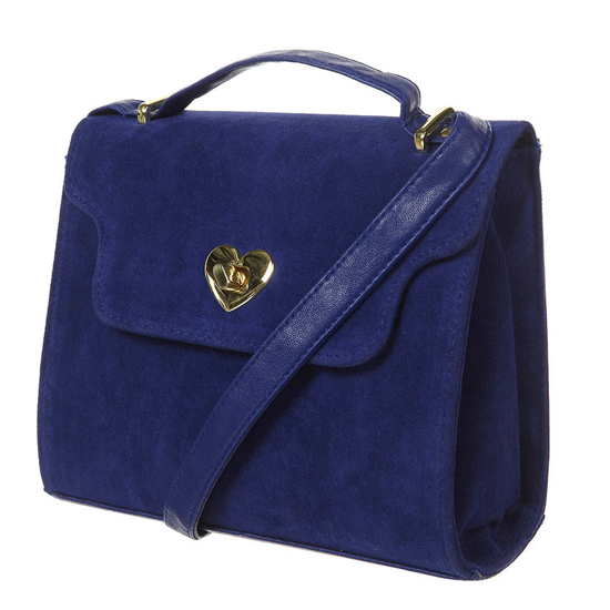 Topshop Blue Heart Lock Cross-Body Frame Bag, $50
