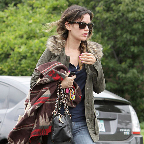 Pictures of Rachel Bilson Leaving the Set of The To Do List
