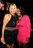 Tennis players Maria Sharapova and Serena Williams shared a hug backstage.